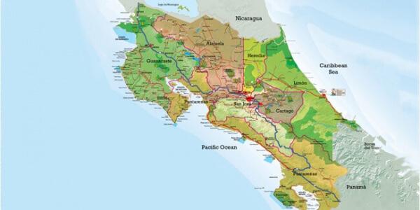 Costa Rica's 7 provinces