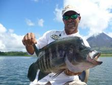 Fishing on Lake Arenal